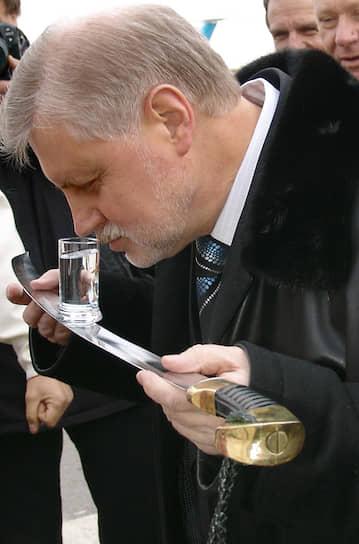 2005 год. Председатель Совета федерации России Сергей Миронов во время визита в Ростов-на-Дону