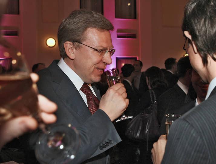 2007 год. Заместитель председателя правительства России, министр финансов Алексей Кудрин на приеме-презентации «День банкира 2007» в отеле «Балчуг Кемпински»