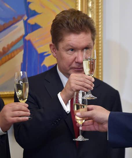 2017 год. Председатель правления компании «Газпром» Алексей Миллер после окончания российско-армянских переговоров в Ереване
