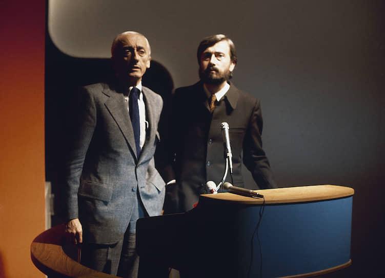 В последние свои годы, после второй женитьбы, океанограф судился со своим сыном Жан-Мишелем (на фото справа) за коммерческое использование имени Кусто