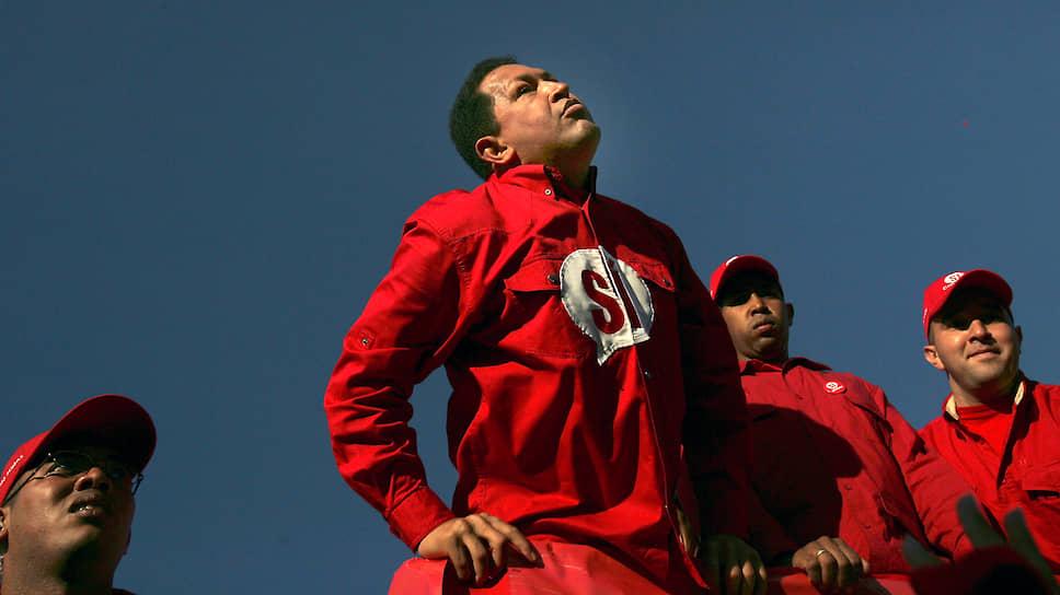 Уго Чавес во время кампании в поддержку конституционных изменений. 2007 год