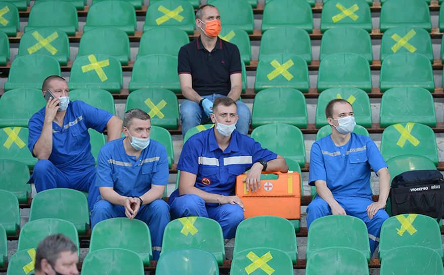 Медики на матче «Арсенал»—«Спартак»