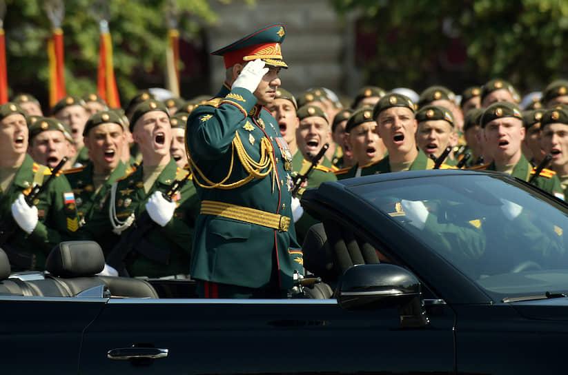 Министр обороны России Сергей Шойгу во время парада на Красной площади