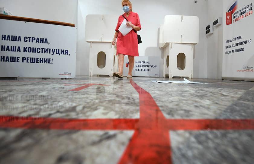 Избирательный участок №5011 в Центральном детском мире в Москве