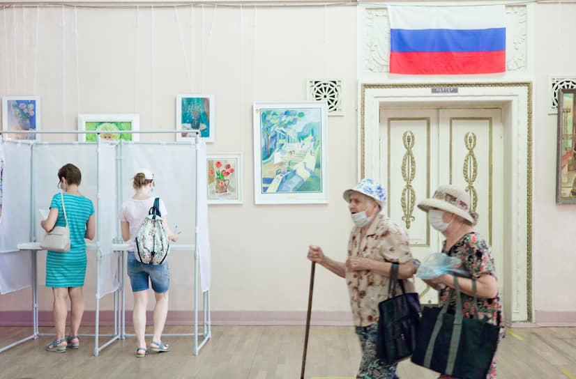 Избирательный участок в городе Волжский Волгоградской области