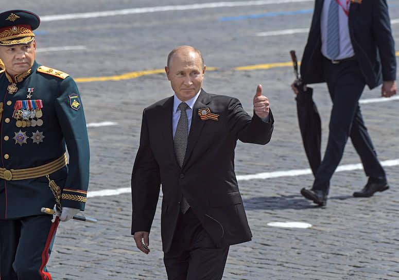 Москва. Министр обороны Сергей Шойгу (слева) и президент России Владимир Путин