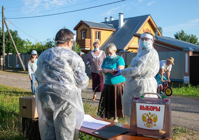 Владимирская область. Передвижной избирательный участок в деревне Турово
