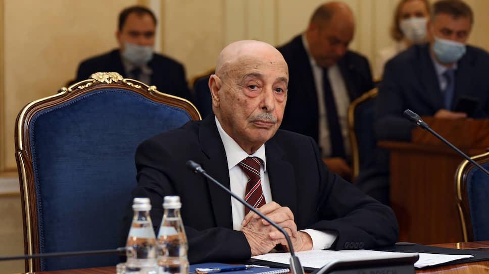 Председатель Палаты представителей Ливии Агила Салех