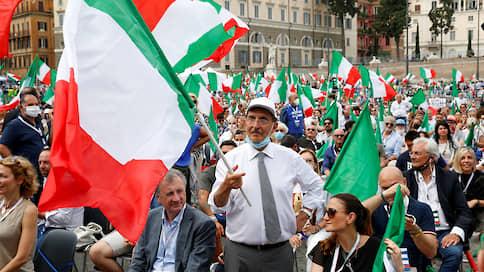 Итальянская оппозиция устроила итальянскую забастовку  / Противники правительства изобразили протест