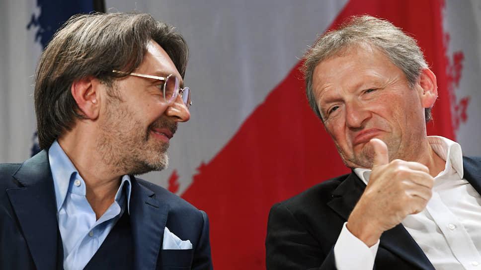 Лидер группы «Ленинград» Сергей Шнуров (слева) и председатель Партии роста Борис Титов