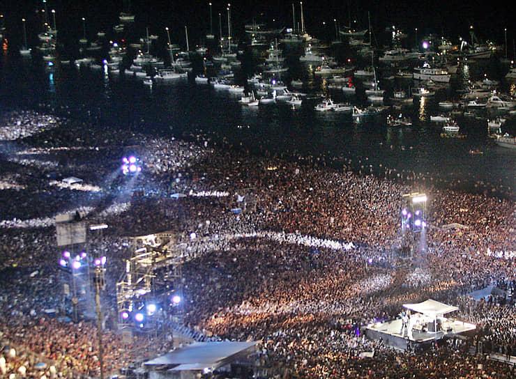 Музыканты The Rolling Stones не сообщали, сколько заработали денег на концерте, но городские власти заявили, что потратили на него около $750 тыс.