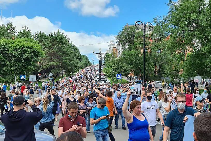 Несколько участников акции произнесли речи в поддержку Сергея Фургала