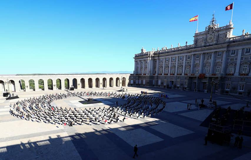 Мадрид, Испания. Акция в память об умерших от коронавируса