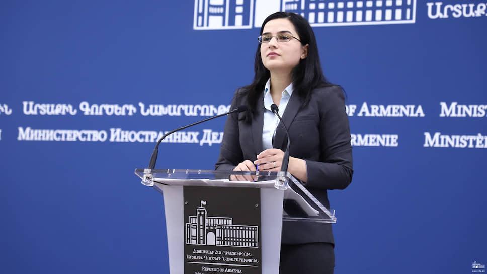 Пресс-секретарь МИД Армении Анна Нагдалян — о позиции Еревана по поводу недавнего обострения конфликта