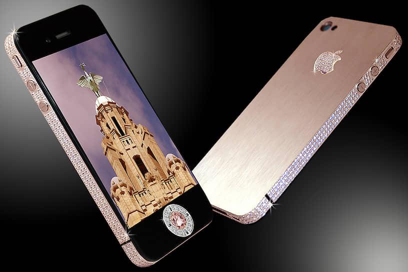 В 2013 году ювелир Стюарт Хьюз изготовил iPhone 4 стоимостью свыше $5 млн. Считается, что это самый дорогой смартфон в мире. Сзади он покрыт золотом, логотип Apple и стороны покрыты 600 бриллиантами, а кнопка «домой» представляет собой один большой бриллиант в 22 карата. Ювелир изготовил смартфон для гонконгского бизнесмена, имени которого не назвал