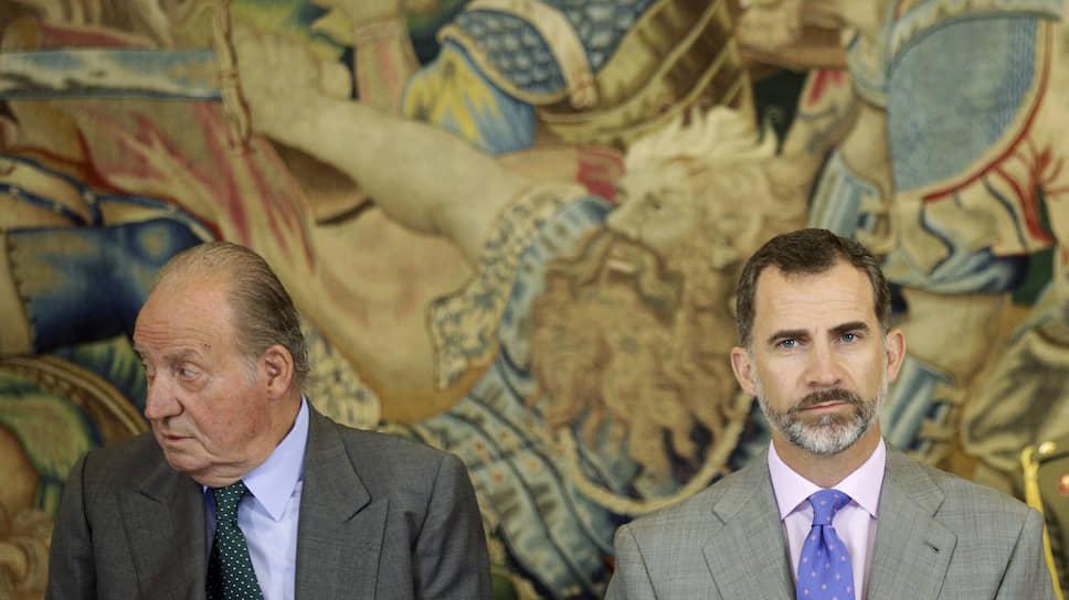 Хуан Карлос со своим сыном, нынешним королем Испании Филиппом VI