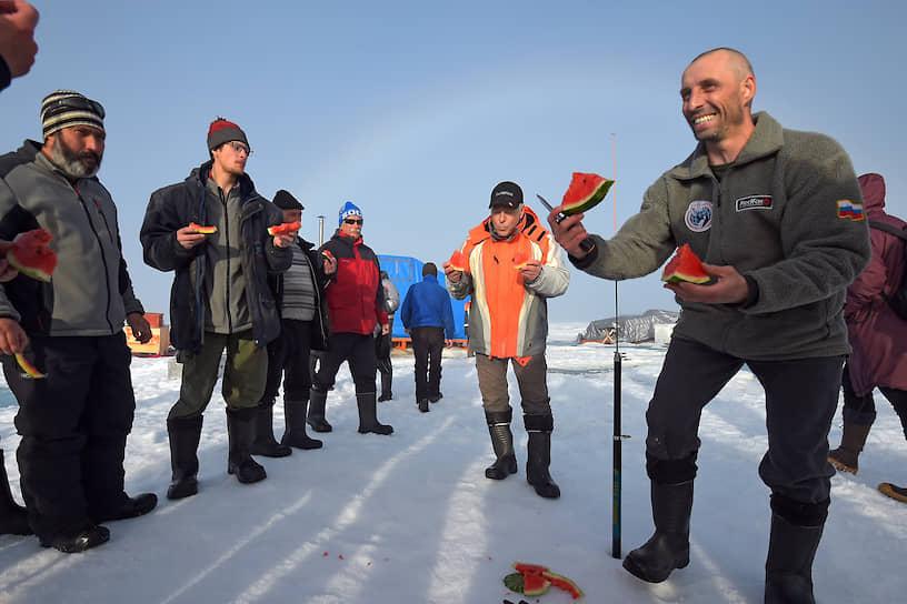 В августе 2015 года арбуз доставили в Арктику для участников операции по спасению полярников на дрейфующей станции «Северный полюс-2015»