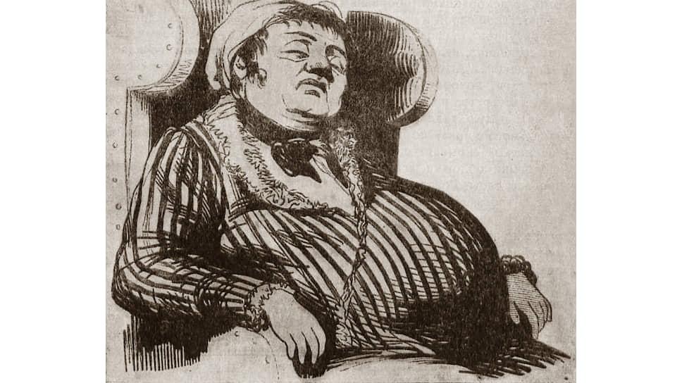 «Не поверишь, как мне тошно и отвратительно среди этого клубка глистов» («Приличное вместилище души» — иллюстрация из сборника Некрасова «Физиология Петербурга», 1845 год)