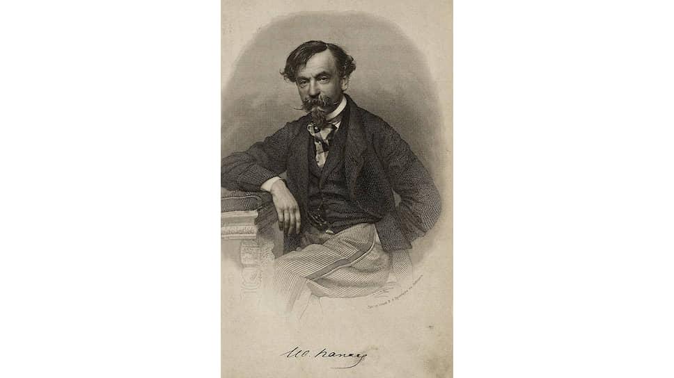 «В нем есть что-то доброе и хорошее,— писал об И. И. Панаеве (на гравюре) В. Г. Белинский.— Но что за бедный, за пустой человек — жаль даже»