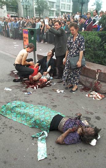 Время, мощность и место взрыва указывали на то, что произошел теракт, в котором сразу начали искать «чеченский след». Тогда президент самопровозглашенной Республики Ичкерия Аслан Масхадов опроверг причастность ко взрыву своих боевиков