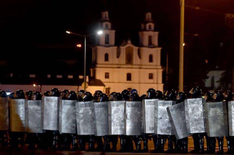 Милицейское оцепление в Минске