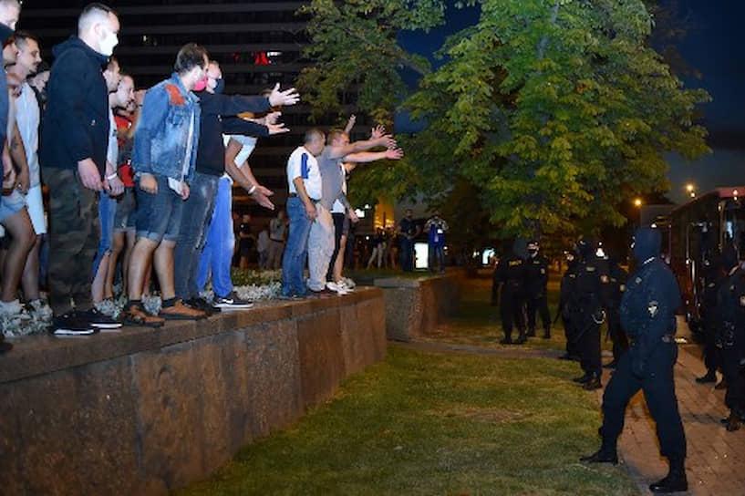 Участники протеста в Минске