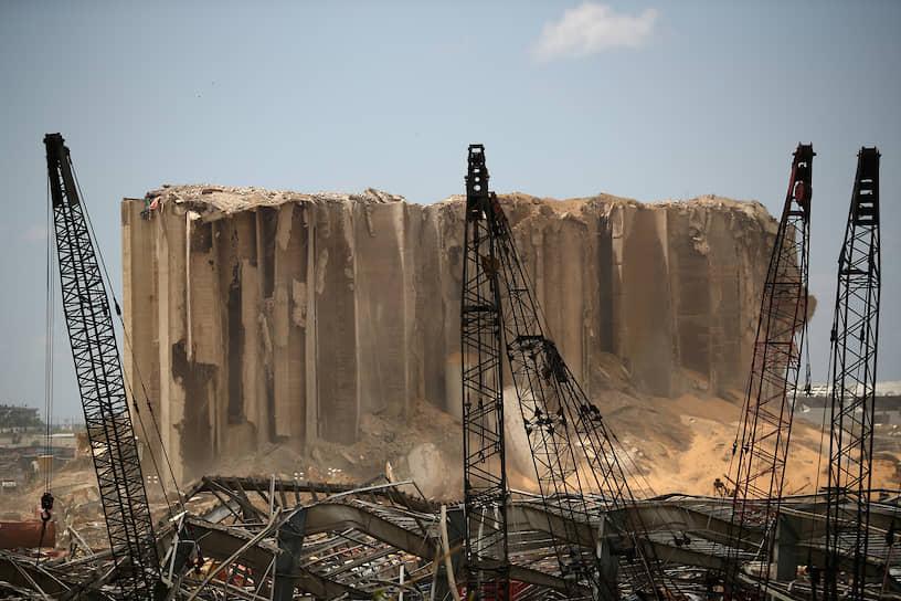 Бейрут, Ливан. Последствия взрыва в порту