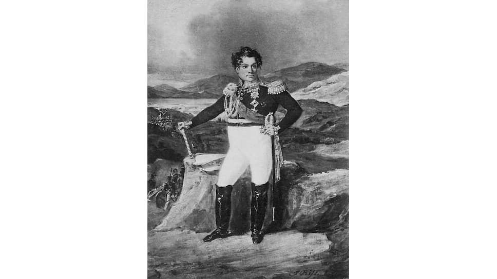 «Польская кампания 1831 года замечательна по затруднениям, с которыми оба главнокомандующие, Дибич (на гравюре) и Паскевич, постоянно принуждены были бороться для продовольствования армии»