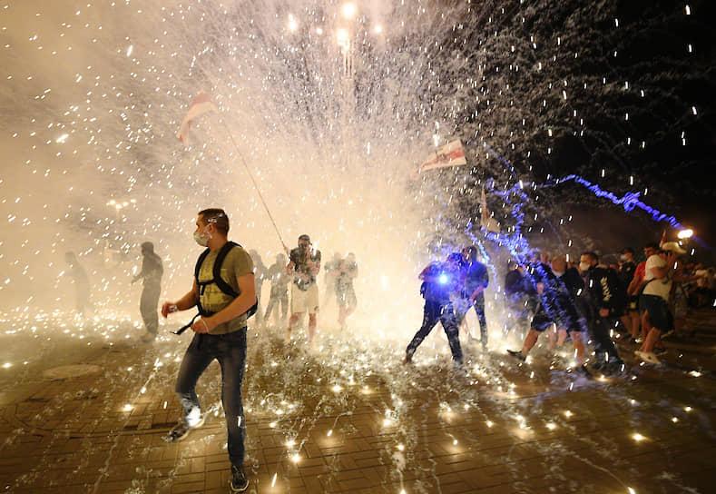 Минск, Белоруссия. Акция протеста против результатов выборов президента Белоруссии