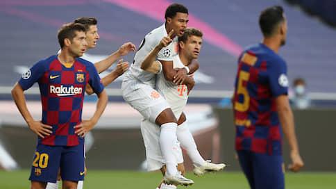 «Барселона» захлебнулась мюнхенским  / «Бавария» добилась уникальной победы и вышла в полуфинал Лиги чемпионов