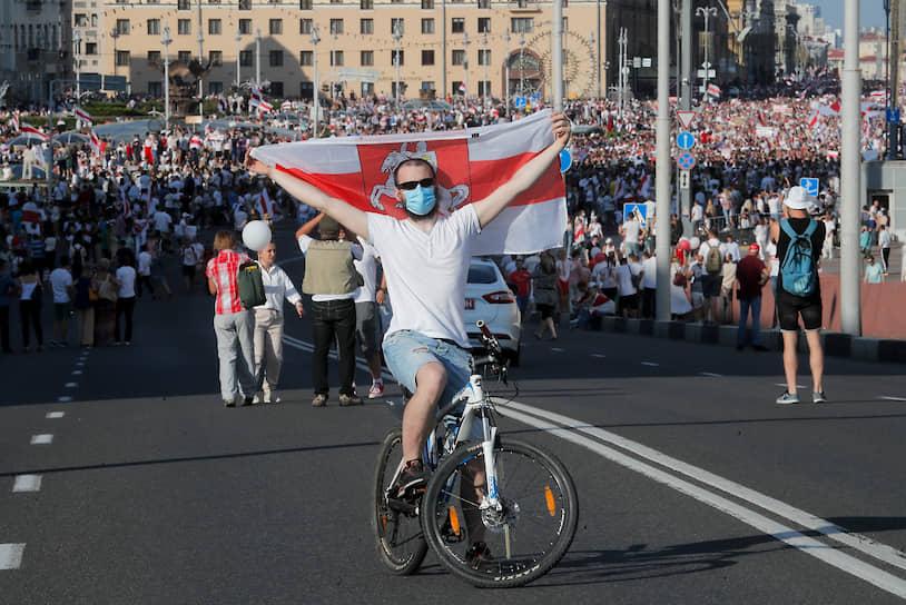 В МВД пока не дают оценок числу участников митинга оппозиции в Минске