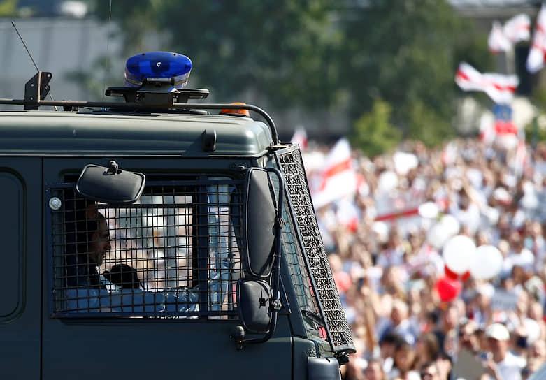 К акции протеста присоединилась Мария Колесникова, представитель Светланы Тихановской
