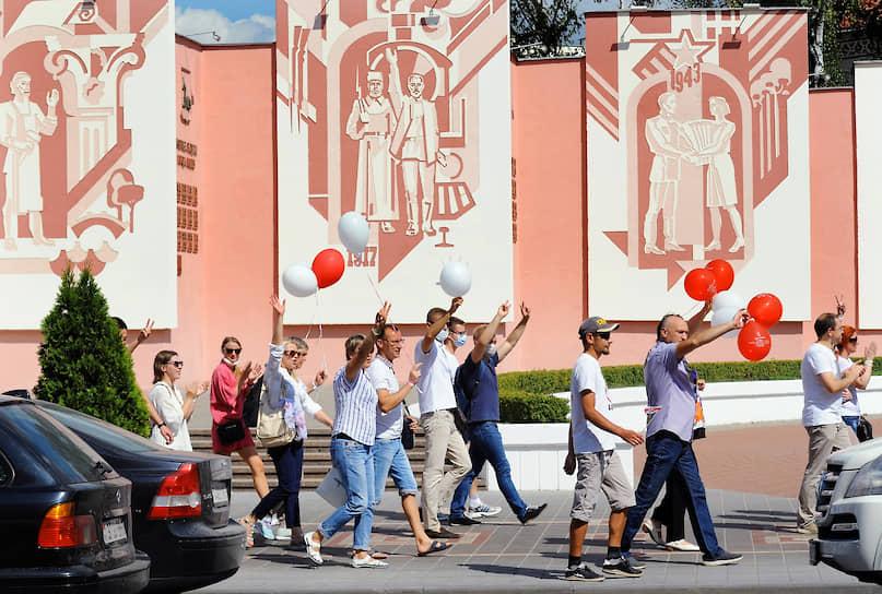 Акция протеста против Александра Лукашенко в Гомеле