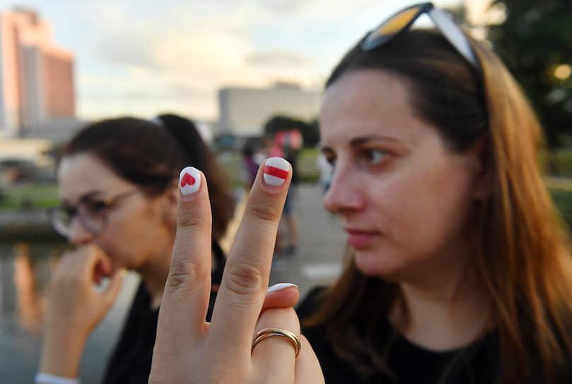 Участницы акции протеста