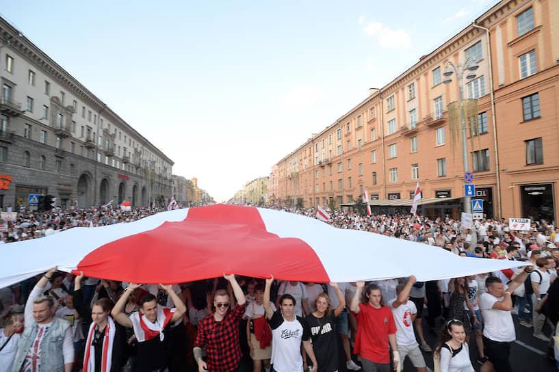 Акция оппозиции «Марш Свободы» и митинг с требованием отставки Александра Лукашенко