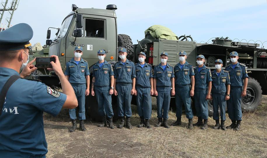 Участники форума «Армия-2020» на полигоне Рощинский в Самарской области