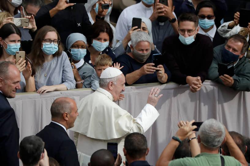 Ватикан. Первая с февраля аудиенция папы римского Франциска