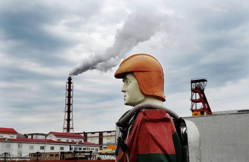 Солигорск, Белоруссия. Территория завода компании «Беларуськалий»