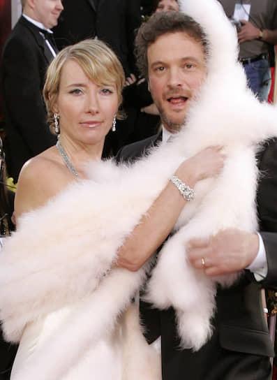 С 2002 года Ферт является послом организации Oxfam, оказывающей помощь развивающимся странам <br>На фото: в 2006 году вместе с актрисой Эммой Томпсон на церемонии вручения премии «Золотой глобус»