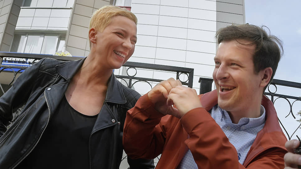 Лидеры белорусской оппозиции Мария Колесникова и Антон Родненков