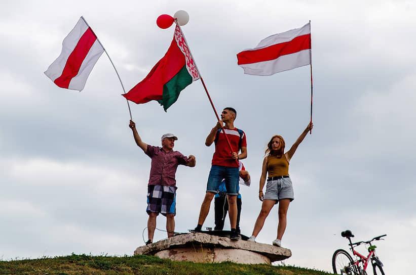 Акция протеста сторонников оппозиции «Марш за новую Беларусь» в Бобруйске