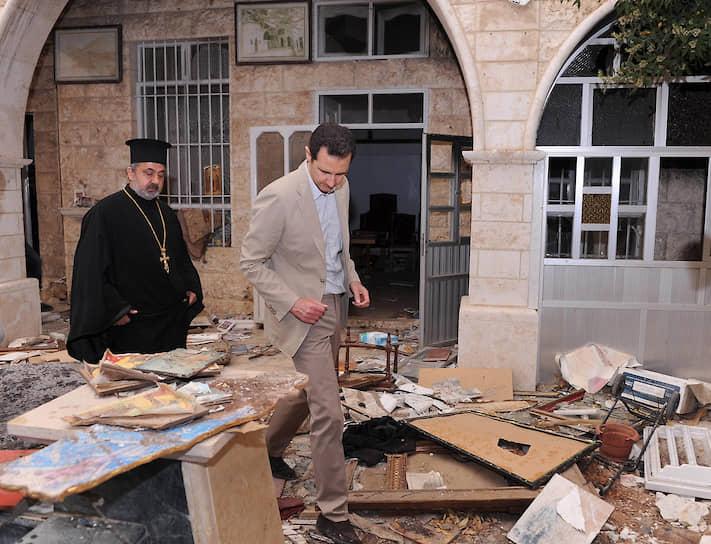 В 2014 году в условиях гражданской войны в Сирии прошли первые президентские выборы на конкурентной основе. Голосование не состоялось на большей части территории, неподконтрольной правительству. ЕС, США и многие другие страны не признали итоги выборов, на которых с 88,7% голосов вновь победил Башар Асад, чей третий срок по новой конституции, принятой в 2012 году, стал первым
