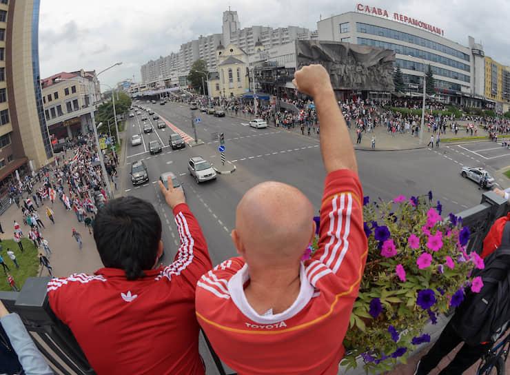 Минск. Участники акции протеста