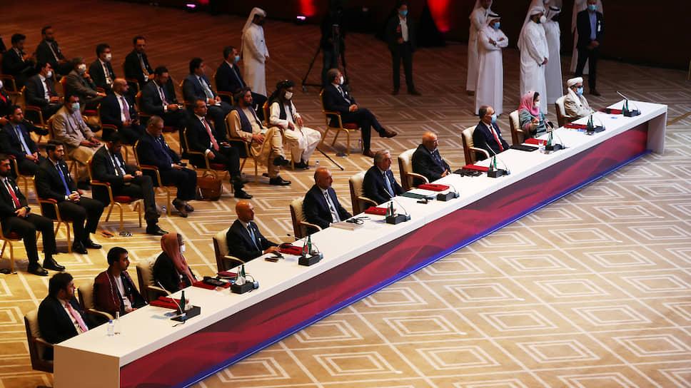 Делегаты от правительства Афганистана и Талибана