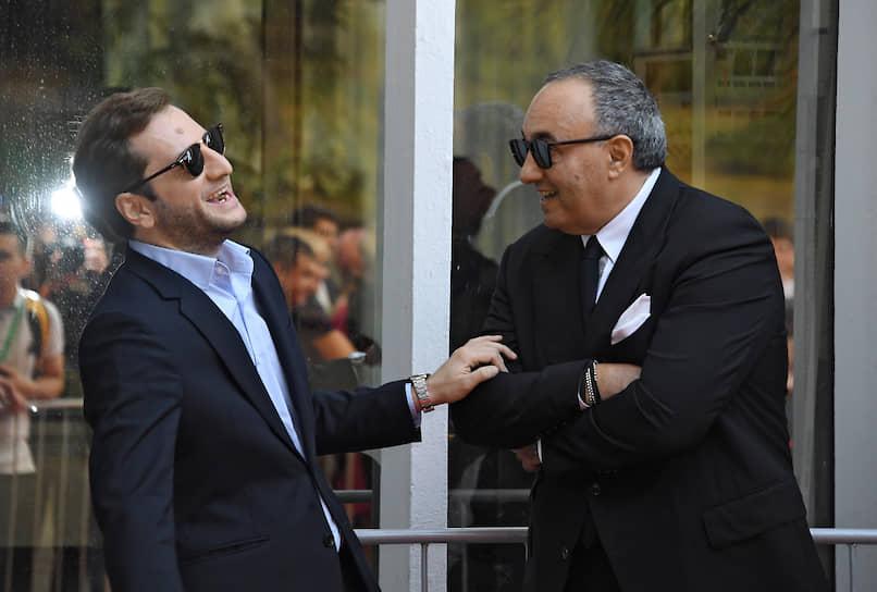 Режиссер Резо Гигинеишвили (слева) и президент «Кинотавра», продюсер Александр Роднянский