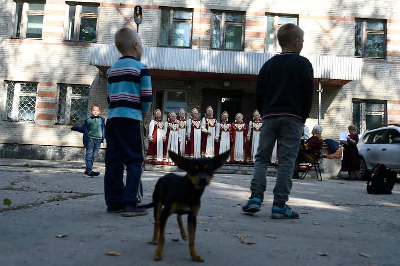 Избирательный участок на выборах депутатов законодательного собрания Новосибирской области