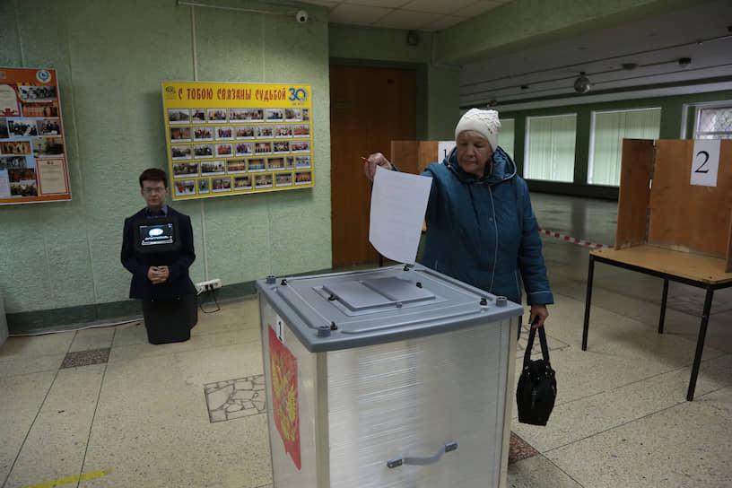 В Пермском крае прошли выборы главы региона. Робот-консультант на избирательном участке в Пермское крае