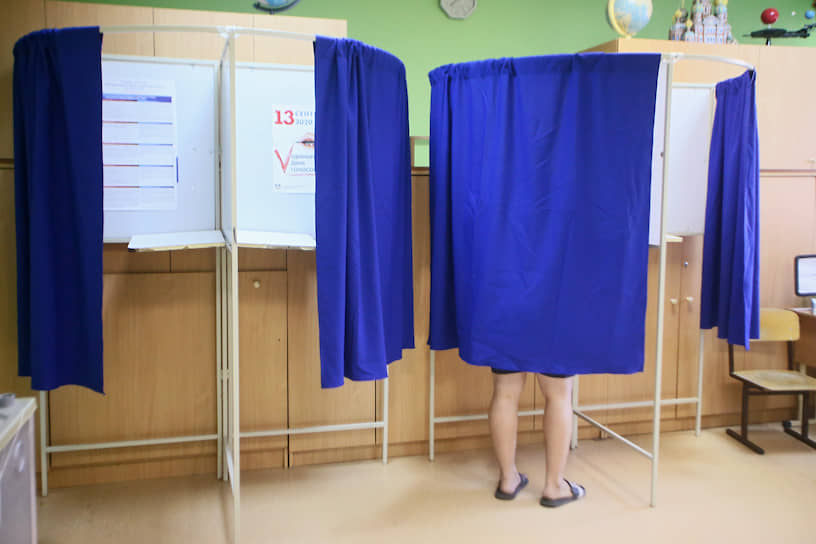Голосование на избирательном участке в Ростове-на-Дону