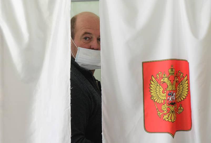 Кабинка для голосования на выборах губернатора Ленинградской области