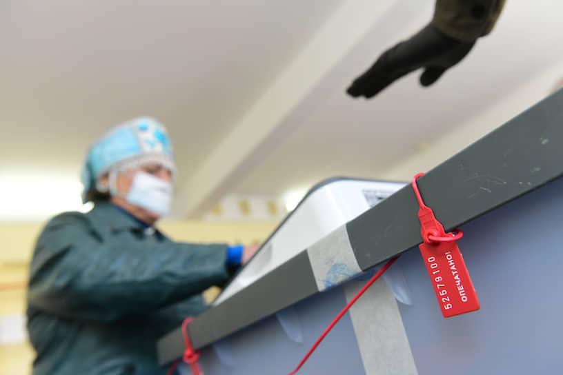 Избирательный участок в Ленинградской области
